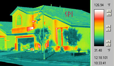home energy audit from the thermal video camera