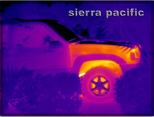 thermal scan of a car