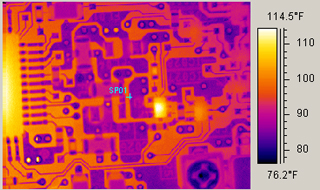 PCB analysis with the infrared thermography camera