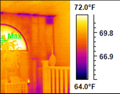 A home energy audit with the IR400 radiometric camera