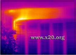IR400 radiometric camera home energy audit showing missing insulation
