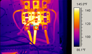 electric maintenance with the FLIR radiometric infrared camera