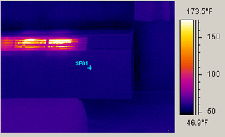 thermal scan of a wall heater with the IR 996 Handheld FLIR Infrared Camera
