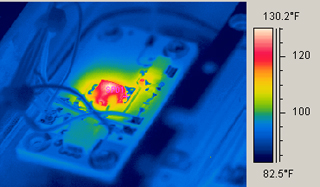 Electronic component thermal scan with the IR 996 Handheld FLIR Infrared Camera