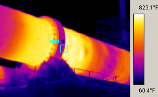 thermal scan of a kiln with the IR 996 Handheld FLIR Infrared Camera