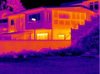 infrared image of a home during an energy audit