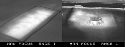 thermal imaging detection of a flat roof leak