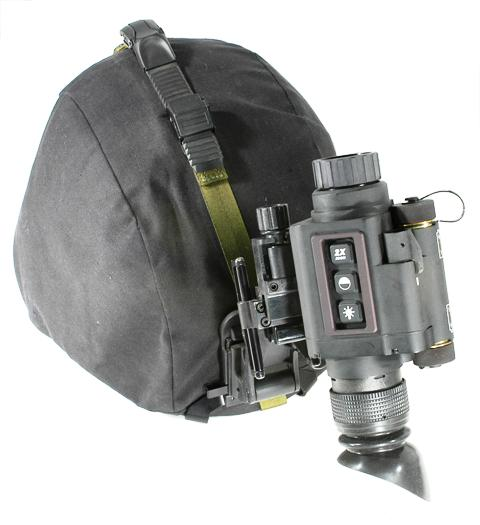 T14 Thermal Monocular Scope mounted on a helmet