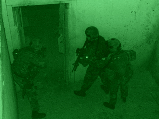 US Army Special forces clearing building