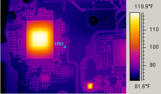 PCB scan with IR700 thermographic camera