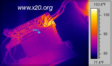 Thermal scan of a circuit board