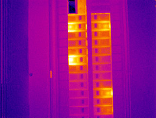 Electrical panel scan from an IR55 radiometric thermal camera