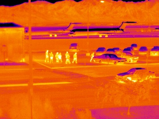 SLC airport with the mid wave thermal imager