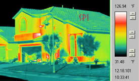 home energy audit with the infrared thermography camera