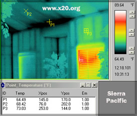 interior energy audit with the infrared thermography camera