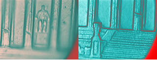 a closeup of a penny with the PD300 infrared imaging system
