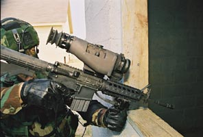 TWS 2000 Thermal Weapon Sight mounted on a scope