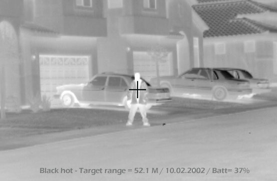 TWS 2000 Thermal Weapon Sight image of a man